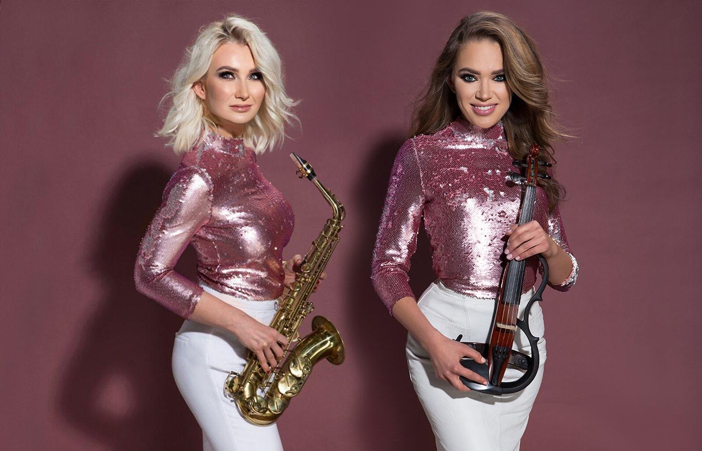 skrzypce i saksofon