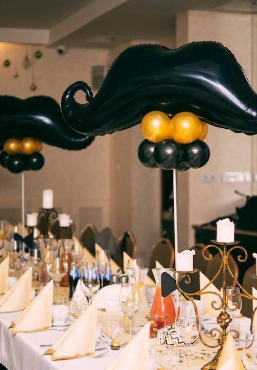 balony dekoracje stołów