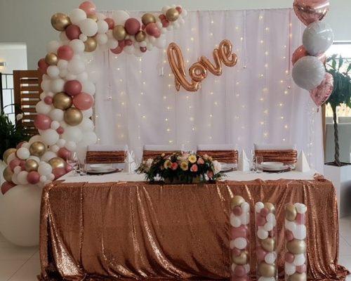dekoracja weselna SŁODKIEGO STOŁU