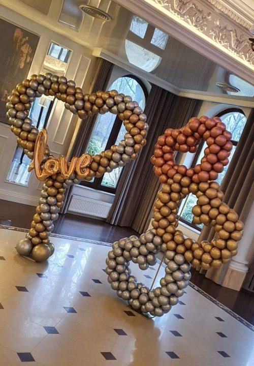 balonowe dekoracje weselne